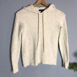 Banana Republic Ivory Fuzzy Hoodie Sweater xs